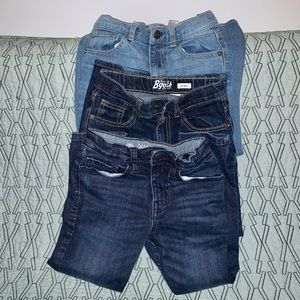 Set of 3 boy skinny jeans (size 6-7)